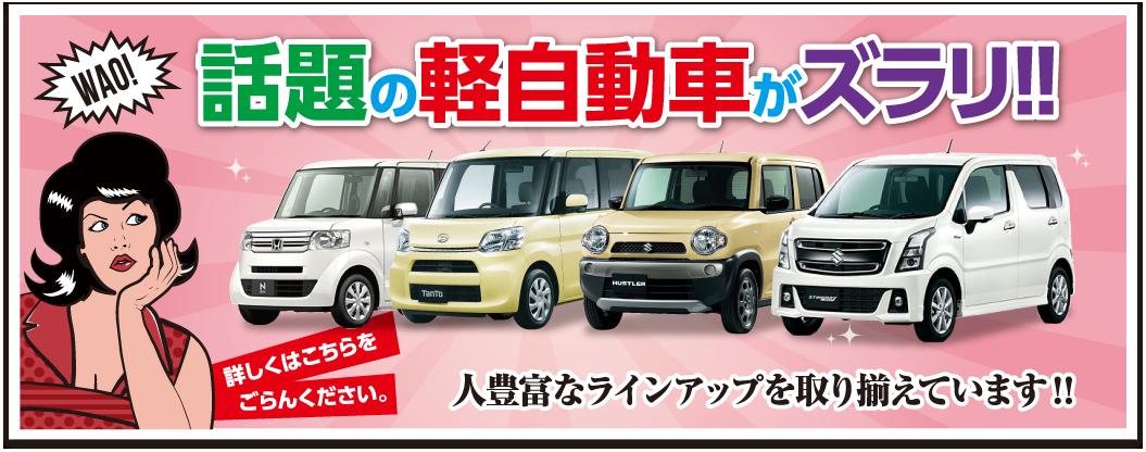 話題の軽自動車がズラリ!!